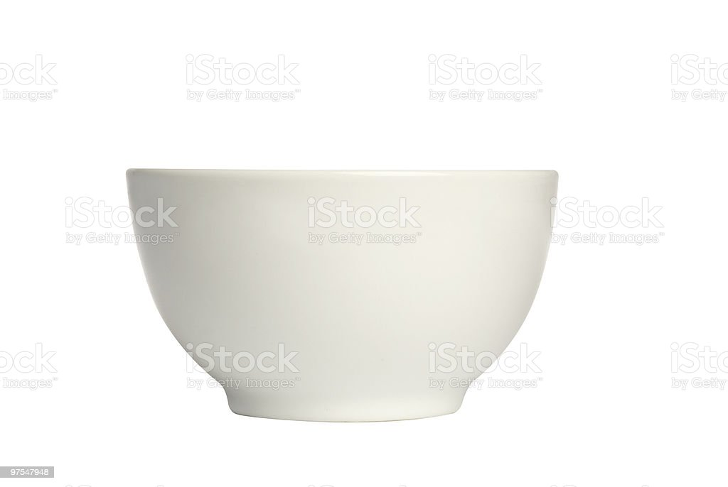Bright white tall ceramic bowl royalty-free stock photo
