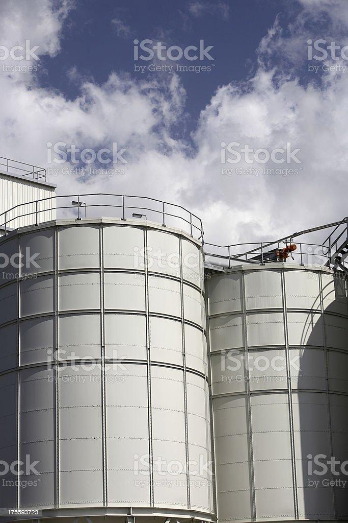Bright White Tanks royalty-free stock photo