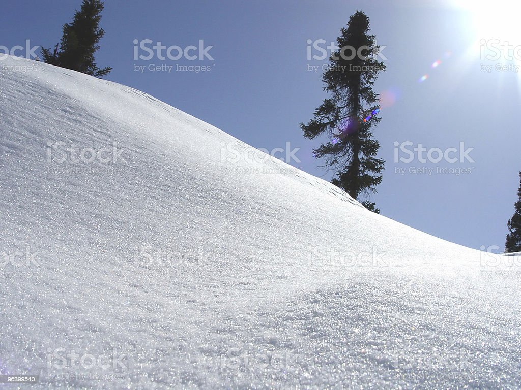 Bright Winter Landscape royalty-free stock photo
