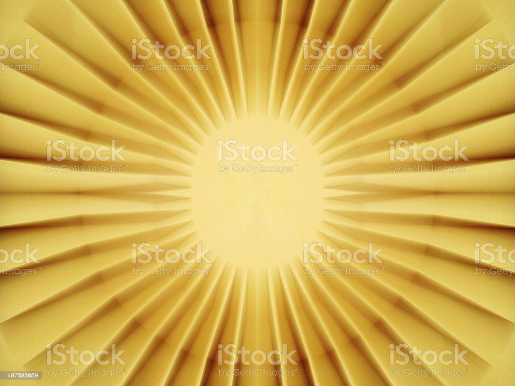 Bright yellow sun core shining stock photo