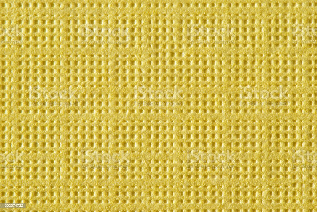 Bright Yellow Textured Paper Macro stock photo