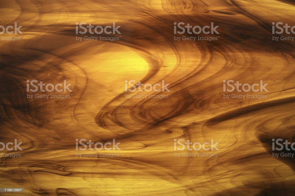 Bright Yellow/Brown Stained Glass royalty-free stock photo