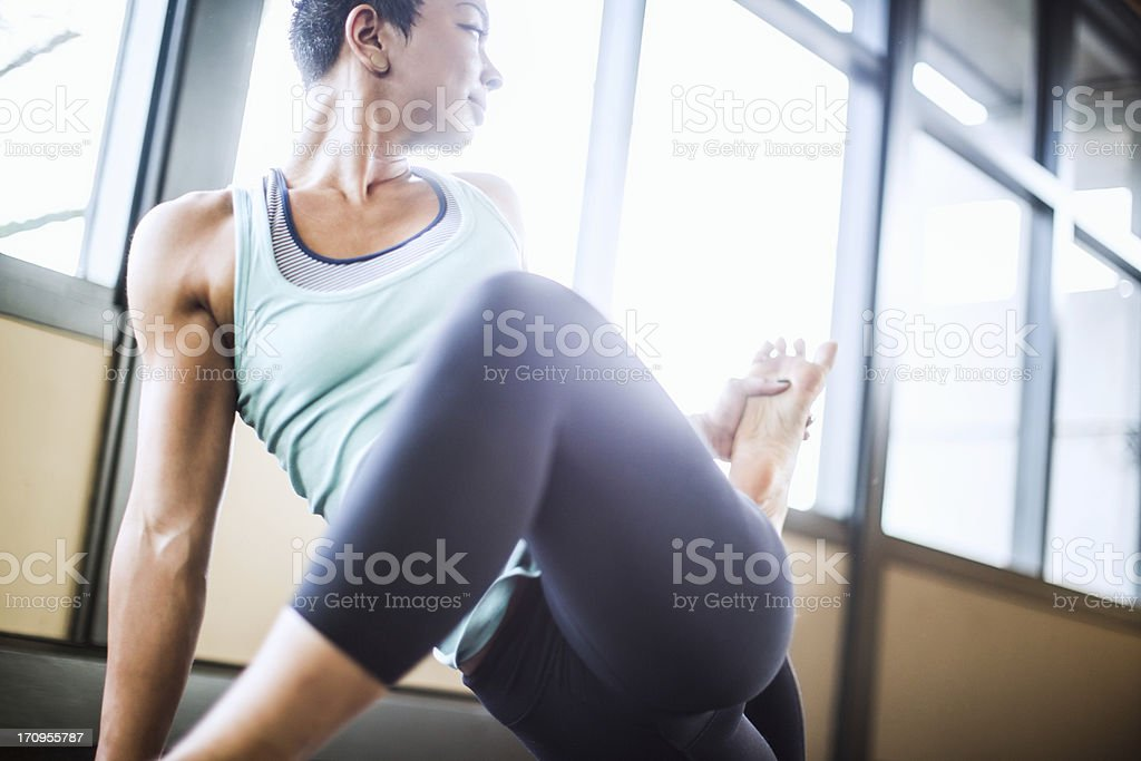 Bright Yoga Studio stock photo