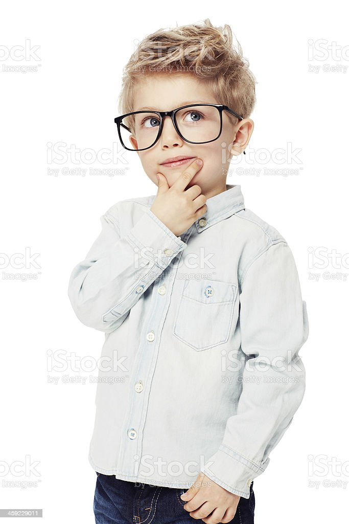Bright young mind stock photo