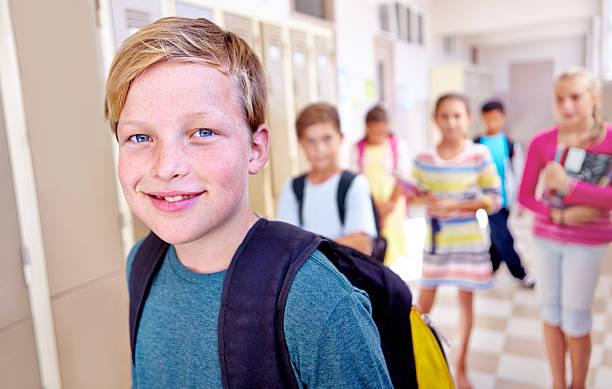 Brightest in the school stock photo