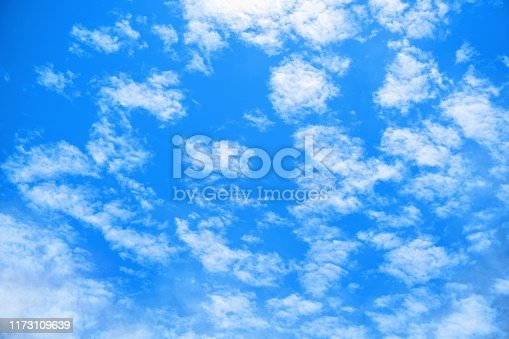 Brightly blue sky and cloud