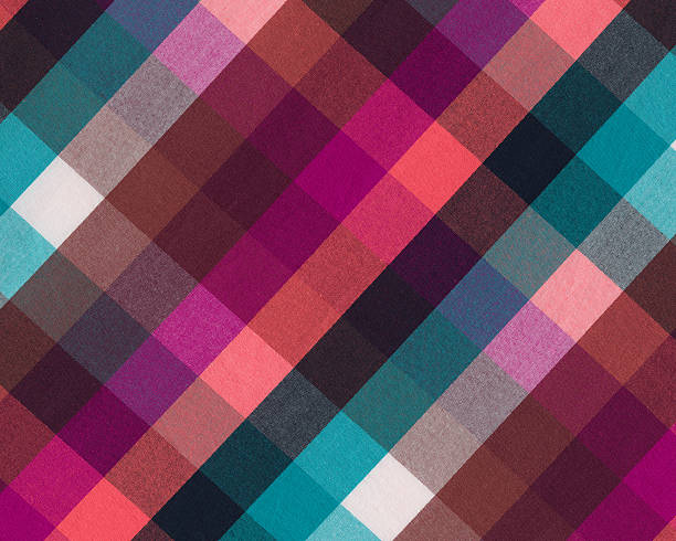 brightly colored plaid woven fabric Please view more plaid fabrics and papers here: plaid stock pictures, royalty-free photos & images