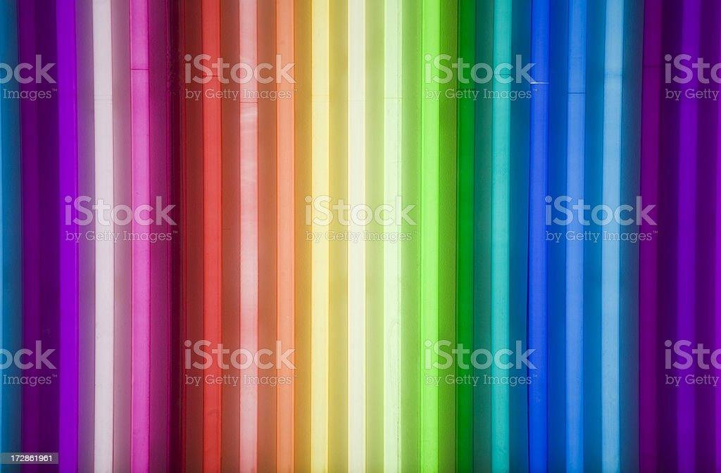 neon arco-íris - foto de acervo