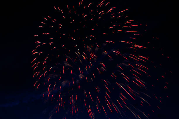 brightly colorful fireworks and salute of various colors - lunar new year stock pictures, royalty-free photos & images