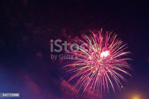 542714484 istock photo Brightly colorful fireworks 542723996