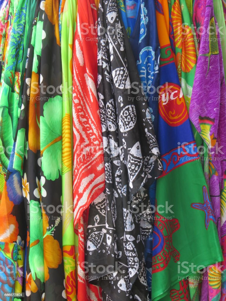 brightly coloured garments royalty-free stock photo