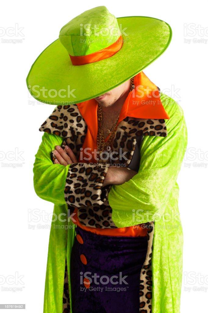 Brightly Dressed Man stock photo