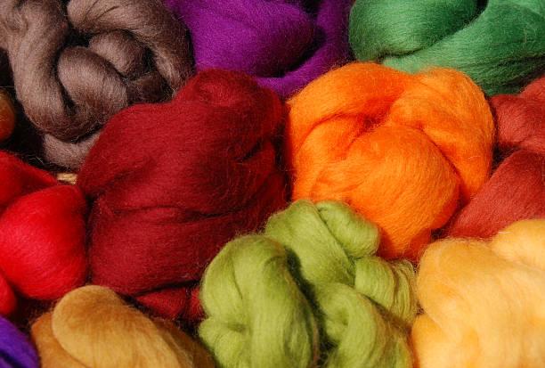 Gefärbtes neue Wolle – Foto