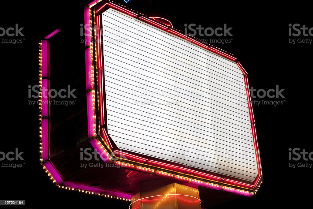 Brightly lit billboard royalty-free stock photo