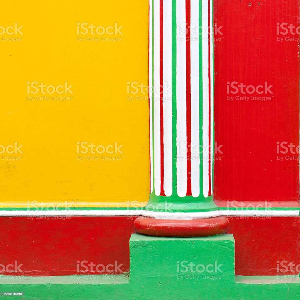 Brightly Painted Building Exterior stock photo