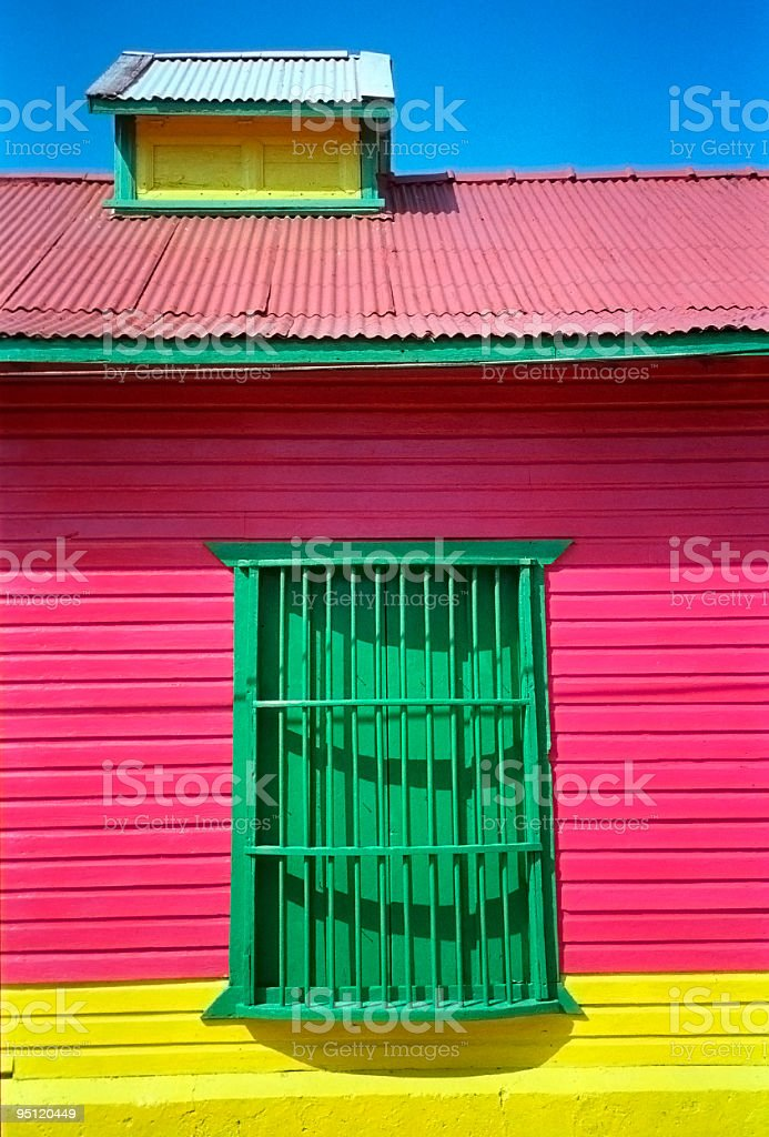 Brightly Painted House, Mexico stock photo