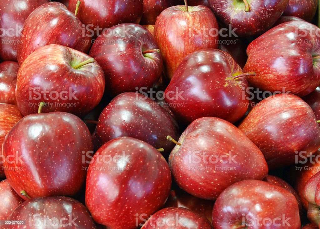 Brightly red apples texture stock photo