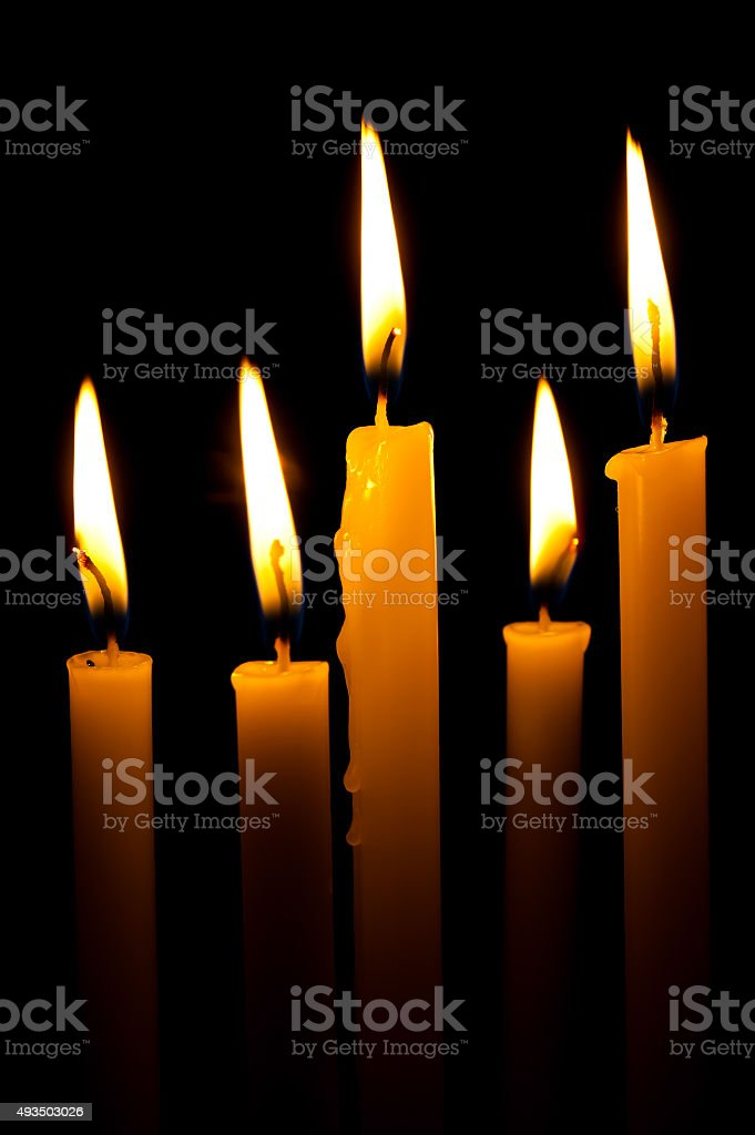 brightness of candlelight stock photo