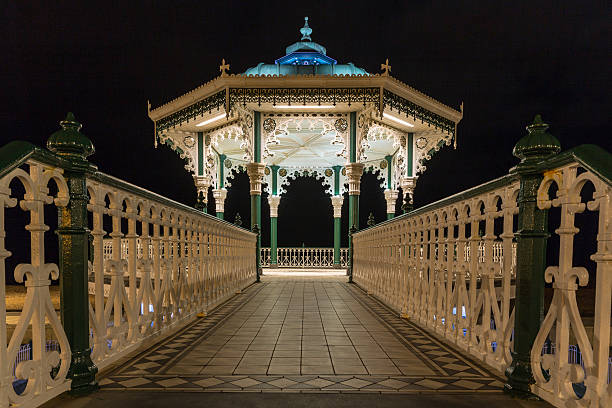 Brighton and Hove, bandstand on the seafront stock photo