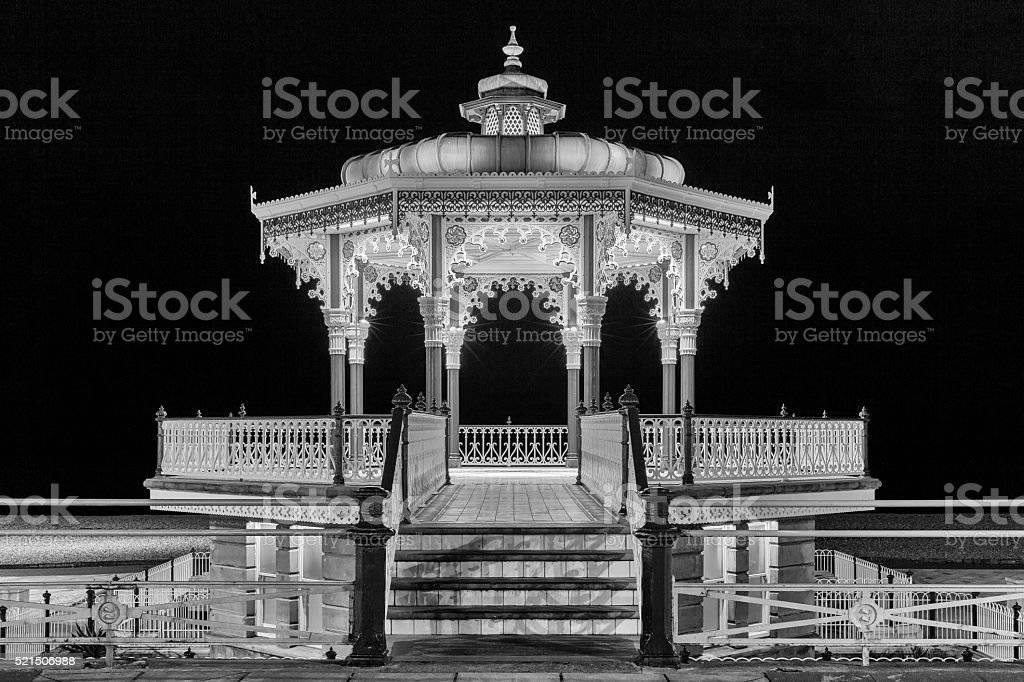 Brighton and Hove bandstand stock photo