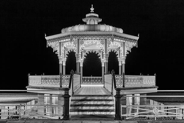 Brighton and Hove bandstand stock photo