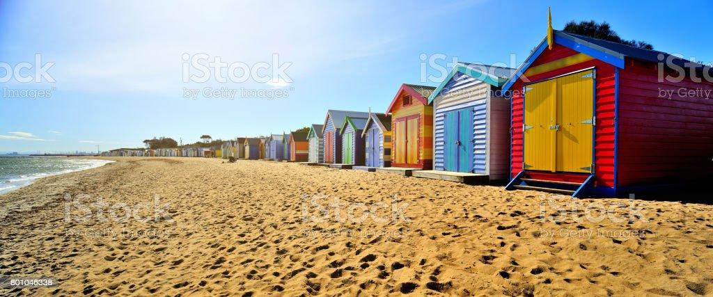 Brighton Beach Boxes stock photo