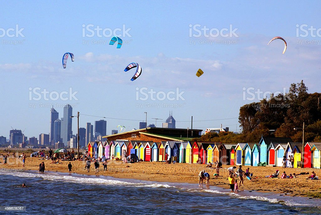 Brighton Beach Boxes, Victoria stock photo