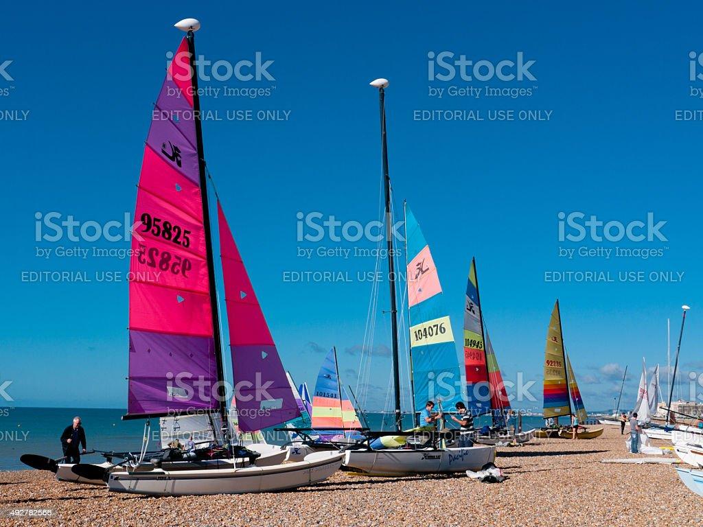 Brighton beach, England stock photo