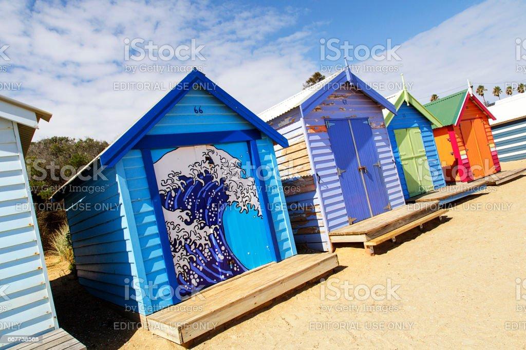 Brighton Beach Huts - Melbourne stock photo