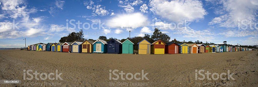 Brighton Beach Huts royalty-free stock photo