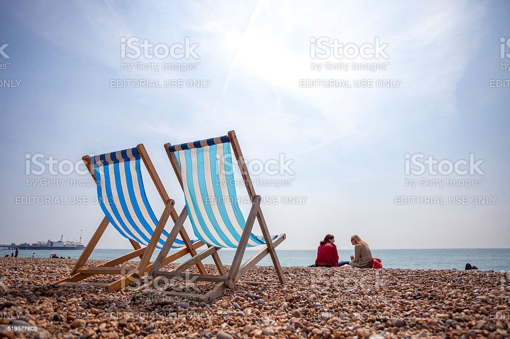 Brighton Beach in United Kingdom stock photo