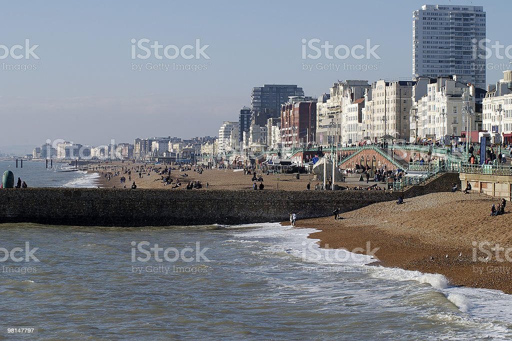 Brighton Beach in winter. East Sussex. England royalty-free stock photo