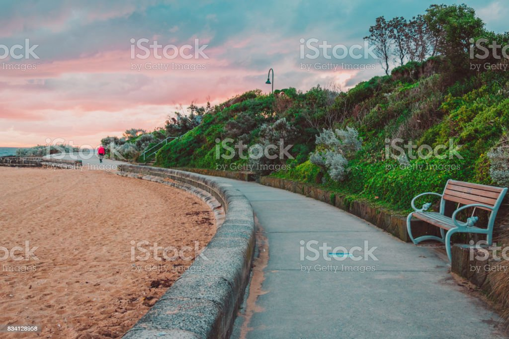 Brighton Beach, Melbourne stock photo