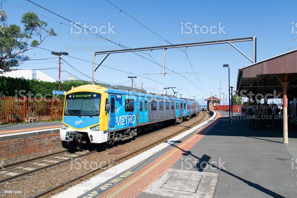 Brighton Beach Railway Station - Melbourne stock photo