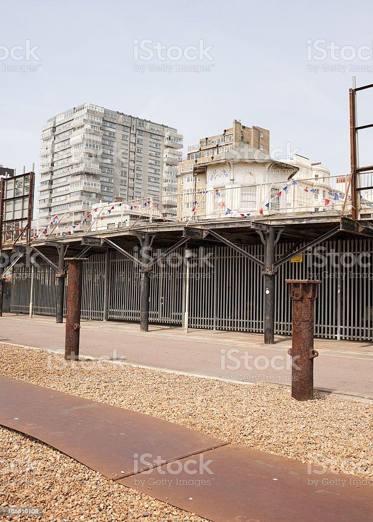 Brighton Beachfront and Buildings stock photo