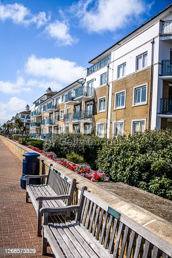 Brighton Benches And Apartment Buildings, UK