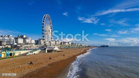 istock Brighton Ferris Wheel Beachfront - Panoramic view 518181226