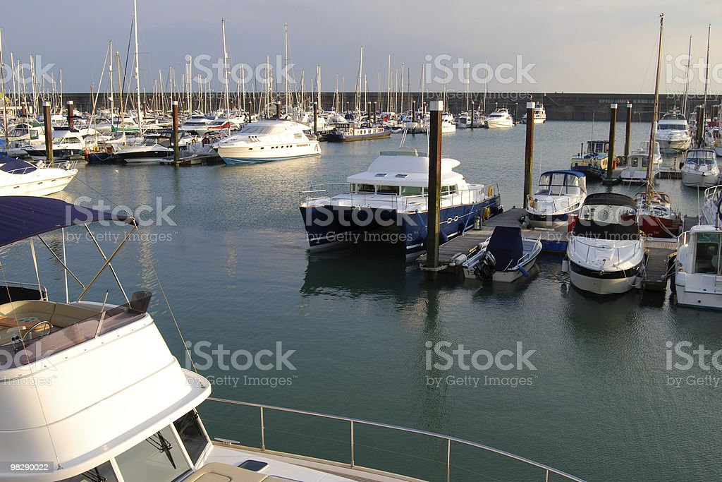 Brighton Marina. East Sussex. Inghilterra foto stock royalty-free