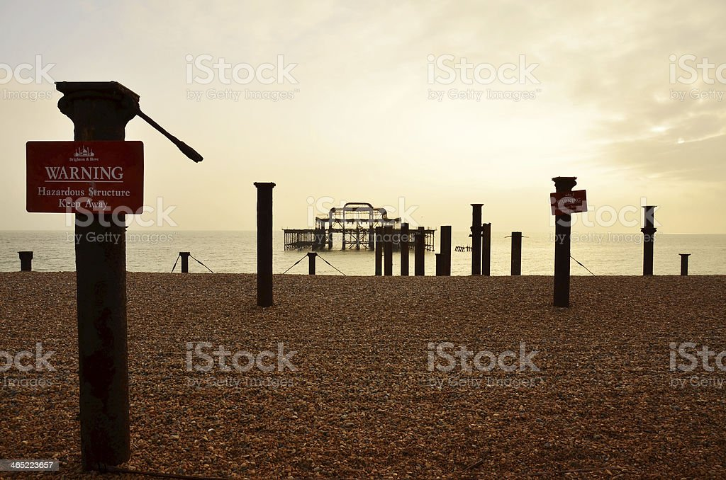Brighton Old Pier stock photo