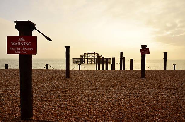 Brighton Old Pier stock photo