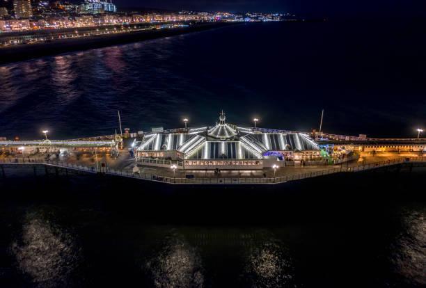 Brighton palace pier at night with a bar and restaurant illuminated picture id1192745824?b=1&k=6&m=1192745824&s=612x612&w=0&h=rfgd1c8hicuasofotahv rlml k16dzi0wr4xggkss4=