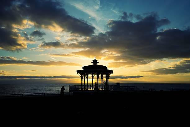Brighton Pavilion sunset stock photo