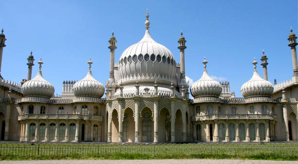Brighton Pavillion Front view of Brighton Pavillion East Sussex pavilion stock pictures, royalty-free photos & images
