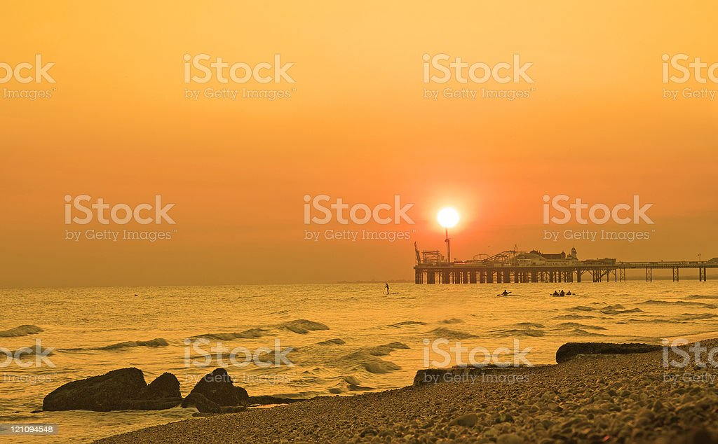 Brighton Pier Sunset stock photo