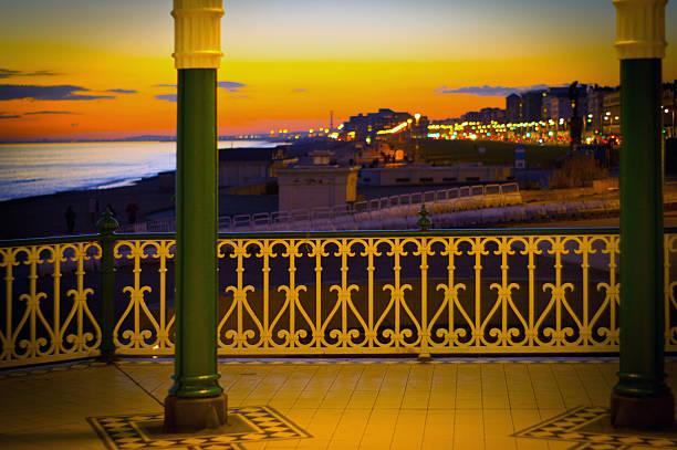 Brighton promenade stock photo