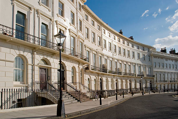 brighton regency crescent. - east sussex stockfoto's en -beelden