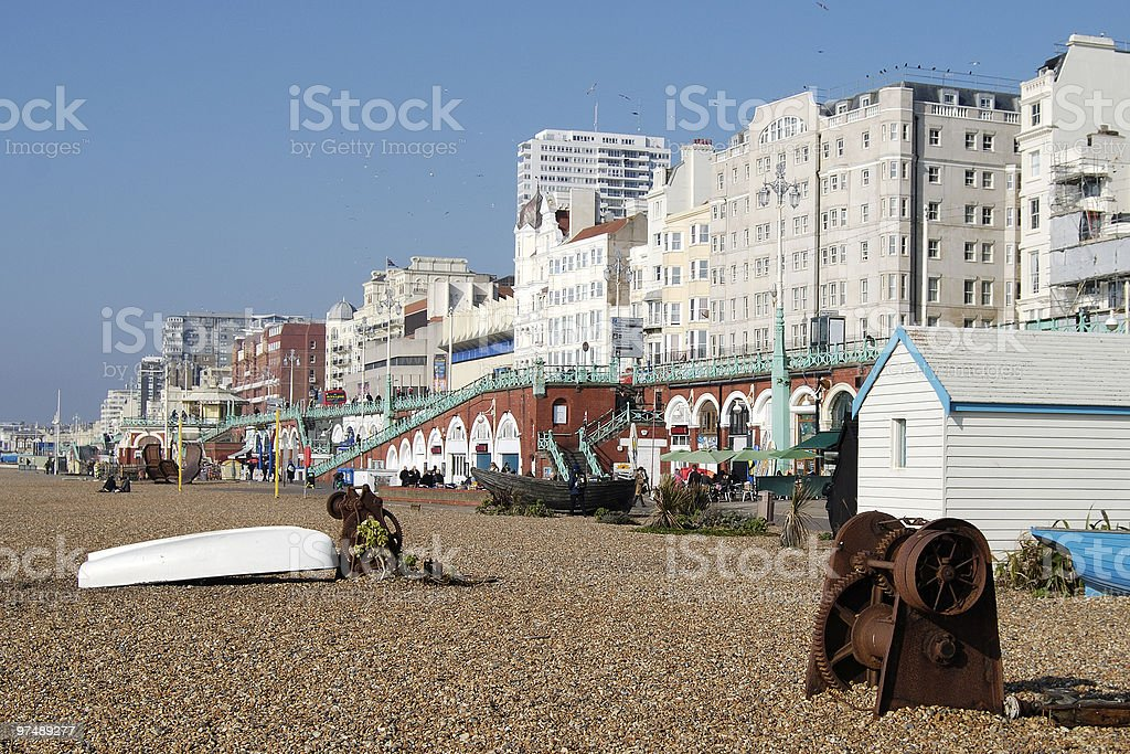 Brighton seafront. East Sussex. England royalty-free stock photo