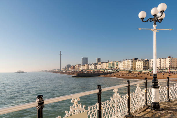 Brighton Seafront from it's famous pier stock photo