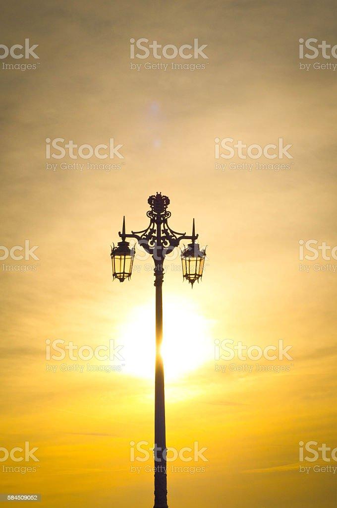 Brighton street light stock photo
