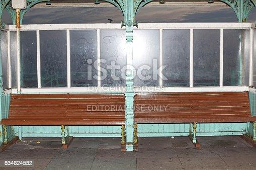Brighton, United Kingdom - November 02, 2011: Bus stop in Brighton